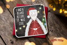 Tarjeta de Navidad saludos novedad Rude Divertido Broma Humor Navidad Cool Barba XS15