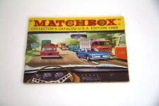 Vintage Original 1969 Matchbox Collectors Catalog USA Retail Edition Lesney Car