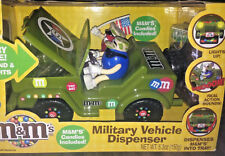 M&M MILITARY VEHICLE JEEP DISPENSER Collectible M & M Jeep Horn NEW IN BOX