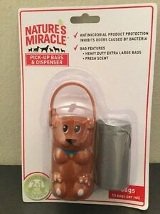 NIB Natures Miracle Dog Pick-Up Bags & Dispenser Odor Control