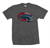 T-Shirt Hot Rod Garage | Rockabilly Rat US Kustom Car Flathead Ford V8 grau