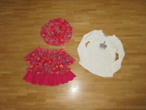 3-Tlg. Kenzo/Burberry Rock/Shirt/Sonnenhut, Gr. 6 J./116 cm **w.NEU**