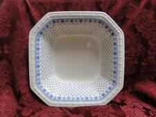 "Spode Ermine Blue, Geometric Design: Square Serving Bowl, 10"", Crazing, As Is"