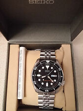 Seiko SKX007K2 Dive Watch Steel Bracelet NIB U.S. Seller Men's Automatic