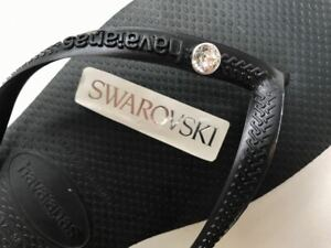 Original HAVAIANAS  Swarovski Slim Crystal Flip Flops Women  Summer 2021