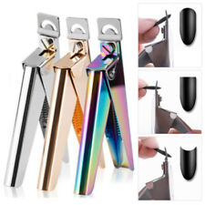 Stainless Steel Nail Art Edge Manicure Tips Cutter False Nail Scissor 2 Colors