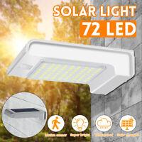 72 LED énergie solaire PIR Motion Sensor sécurité mur lumière jardin extérieur