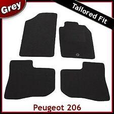 PEUGEOT 206 1998 - 2008 2009 2010 1-cip montato su misura moquette tappetini Grigio