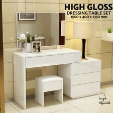 Dressing Table Mirror Makeup Jewellery organiser Cabinet Desk Drawers High Gloss