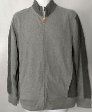 Lands End Men's Two Tone Gray Zip up Sweat Jacket Size Medium