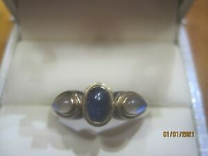 18kt Moonstone and sapphire ring