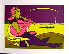 ADAMI VALERIO - Suonatore di flauto -serigrafia