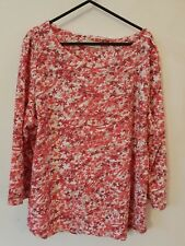 Per Una Marks and Spencer M&S Top Tee Tunic Leaf Print Autumn Size 16