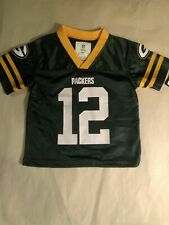 Green Bay Packers #12 Aaron Rodgers Boys Jersey Size 3T
