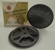 "GOLDBERG SUPER 8 MM DUSTPROOF CAN ~ 400 FOOT FILM / TAPE REEL 7"" MOVIE DECOR~NEW"