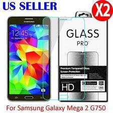 2X Premium Tempered Glass Screen Protector Film For Samsung Galaxy Mega 2 G750