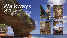 Niue 2017 FDC Walkways of Niue 4v Set Cover Caves Chasms Tourism Stamps