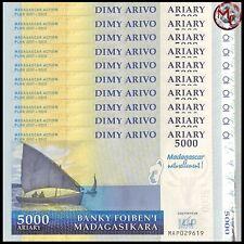 5000  Ariary     PMG 66   UNC Madagascar  2006 P# 91a