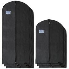 Hangerworld™ 6 Black Clothes Covers Suit Dress Zip Protector Bags