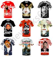 3D Print Hip-Pop Rapper Nipsey Hussle Casual T-Shirt Men Women Short Sleeve Top