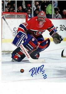 NHL Montreal Canadiens Goalie Patrick Roy 33 Signed 8x10 Photo