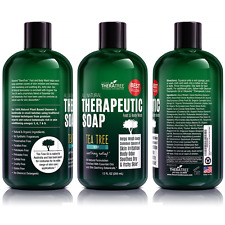 Antifungal Soap With Tea Tree & Neem For Body, Organic & Natural, Wash, 12 oz