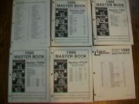 1990 MTD Master Book Parts Manual & Breakdowns(6 Books)Sections 1-5,Cross Refer