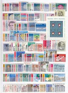 DE9619/ SWITZERLAND – 1970 / 1987 MINT MNH MODERN COLLECTION – CV 680 $
