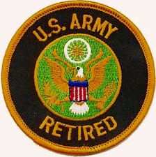 """UNITED STATES ARMY RETIRED PATCH 3"""""""