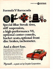 1966 PLYMOUTH BARRACUDA  -  FORMULA 'S'   ~   ORIGINAL MUSCLE CAR AD