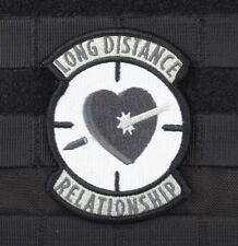 LONG DISTANCE RELATIONS SNIPER SWAT CLOTH MORALE EMBROIDERED PATCH TACTICAL GUN
