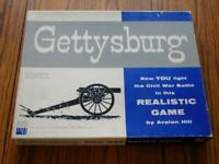 Avalon Hill 1959 : GETTYSBURG - Civil War Game (Green Back counter edition)