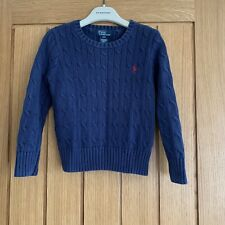 Ralph Lauren Navy Jumper Age 4 Good Condition And Fabulous For Xmas