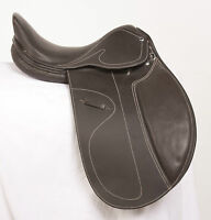 "USED 16"" BROWN DRESSAGE EVENTING TRAIL ALL PURPOSE ENGLISH HORSE LEATHER SADDLE"