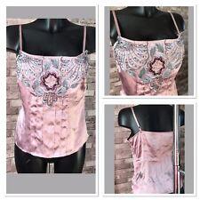 Gharani Strok 100% Silk Vest Camisole Top Size 10