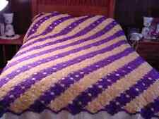 Handcrafted Hand Made Crochet Bedspread ~ very nice work 86 x 100 inches