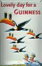 Guinness Flying Toucans Blechschild Schild 3D geprägt Metal Tin Sign 20 x 30 cm