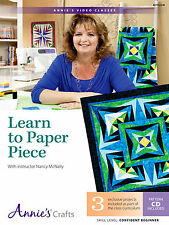 Learn to Paper Piece Quilting DVD Annies w 3 Pattern CD Learn Precision Methods