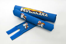 Kuwahara Re-issued BMX V-Bar Pad Set + Straight Handlebar Pad in Blue