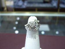 ESTATE WOMENS 14 KARAT WHITE GOLD AND DIAMOND VINTAGE RING  1.25 CARAT SIZE 5.0