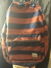 Authentic Herschel Orange & Blue Stripes Backpack Vintage