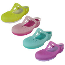 Crocs Womens Carlie Mary Jane Flower Flat Shoes