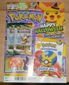 Pokemon magazine #59 2021 + Quick Ball Rubber &2 Mini packs Evolving Skies Cards
