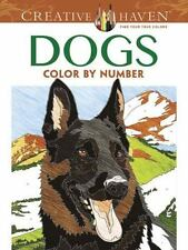 DOGS COLOR BY NUMBER ADULT COLORING BOOK - PEREIRA, DIEGO J. - NEW PAPERBACK BOO