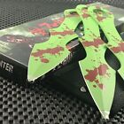 """9"""" TACTICAL SURVIVAL Fixed Blade ZOMBIE THROWING MACHETE Hunting Full Tang Knife"""