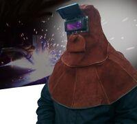 Leather Fire Flame Retardant Protective Welding Hood Darkening Goggle Soldering