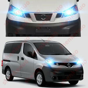 2x LED Bulbs 501 T10 White Concave LED To Fit Number Plate Nissan NV200