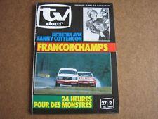 TV JOUR 85/30 (24/7/85) FANNY COTTENCON FRANCORCHAMPS