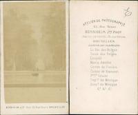 Bernheim, Belgique, parc de Bruxelles Vintage CDV albumen carte de visite,