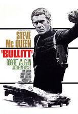 Bullitt Movie Poster, Action Film, Crime & Adventure, Steve McQueen